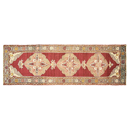 "1960s Turkish Oushak Runner, 3'5"" x11'2"""