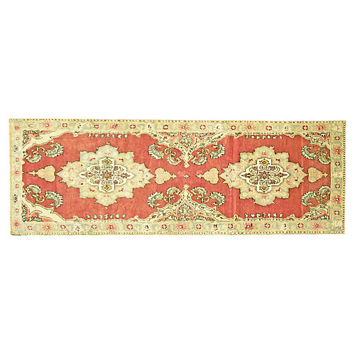 "1960s Turkish Oushak Runner, 3'1"" x9'1"""