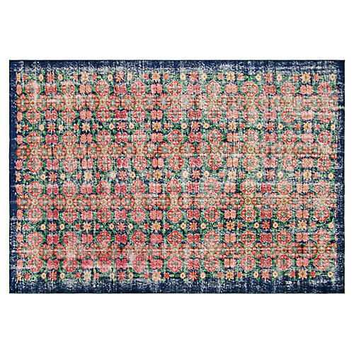 "1960s Turkish Zeki Müren Rug, 6'4""x9'4"""