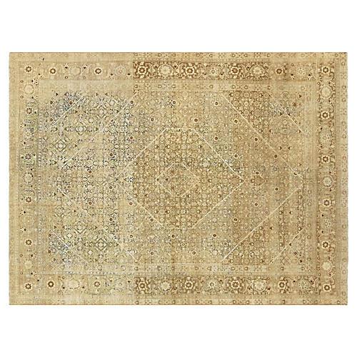 Persian Tabriz Rug, 8'10 x 12'