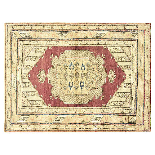 """Anatolian Oushak Rug, 4' x 5'2"""""""