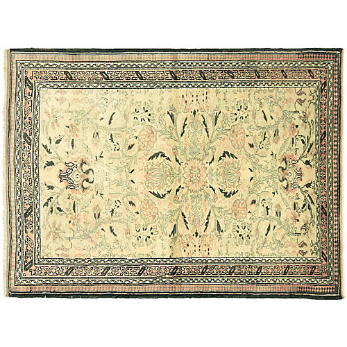 """Anatolian Oushak Rug, 4' x 5'5"""""""
