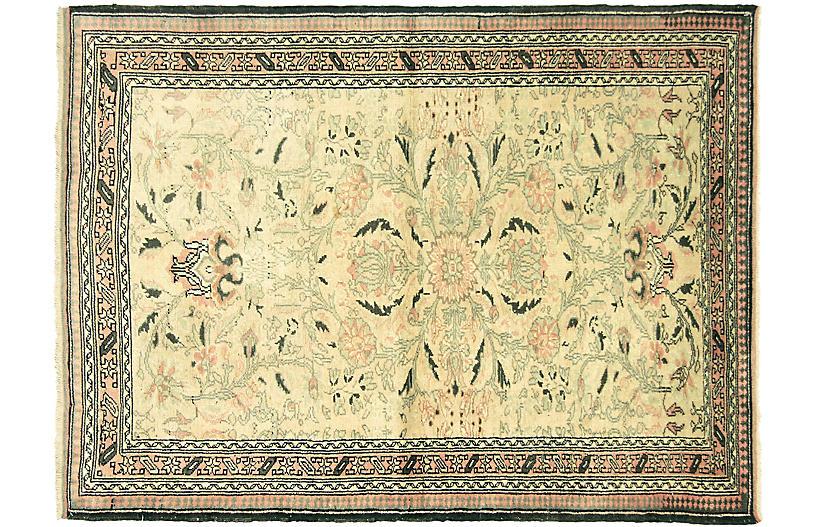 1960s Turkish Oushak Rug, 4' x 5'5