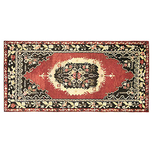 "1960s Turkish Oushak Rug, 4'7"" x 8'11"""