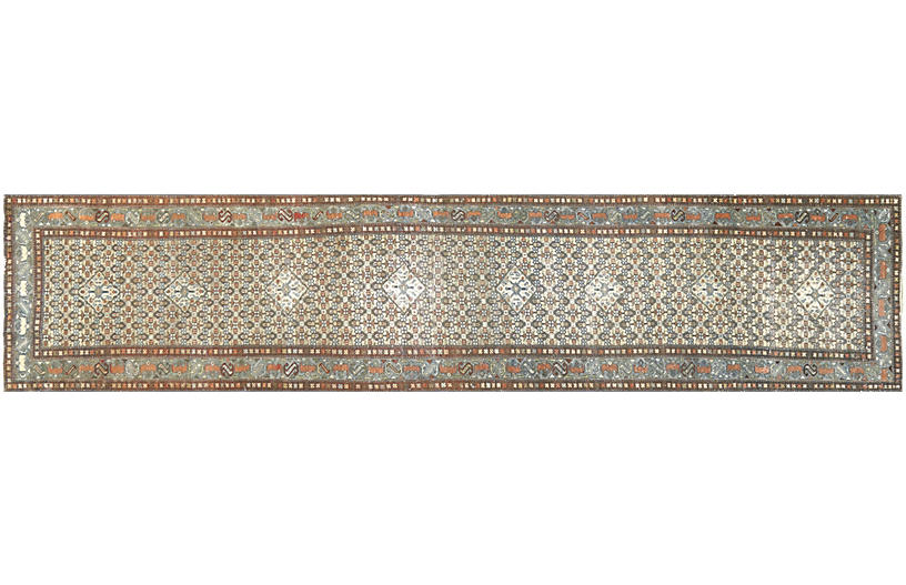 1920s Persian Malayer Runner, 3'2