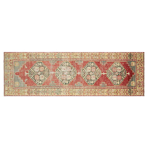 "1960s Turkish Oushak Runner, 2'11"" x9'8"""