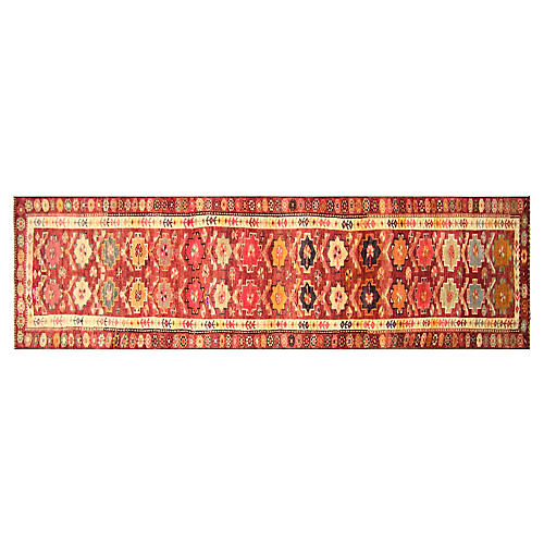"1960s Turkish Oushak Runner, 2'8""x11'11"""