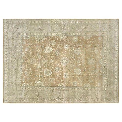 "Indian Tabriz-Style Carpet, 9' x 12'3"""