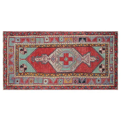 1960s Turkish Oushak, 3'5'' x 6'6''