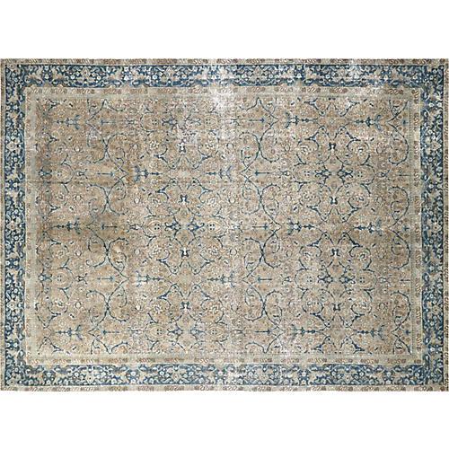 "1940s Persian Tabriz Carpet, 9' x 12'2"""