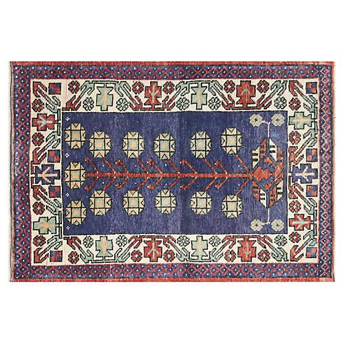 """1960s Turkish Oushak Rug, 2'8"""" x 3'11"""""""