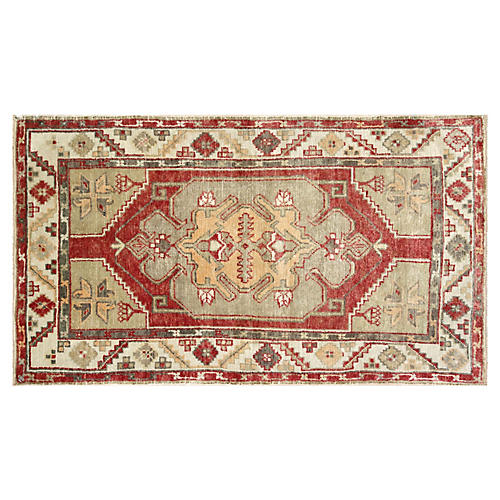 "1960s Turkish Oushak Rug, 2'7"" x 4'7"""
