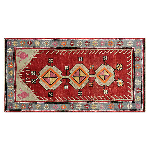 "1960s Turkish Oushak Rug, 2'4"" x 4'3"""