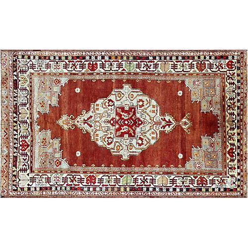 "1960s Turkish Oushak Carpet, 3'9"" x 6'1"""