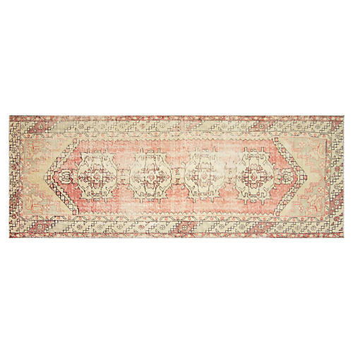 "1960s Turkish Oushak Runner, 3'1"" x 9'3"""