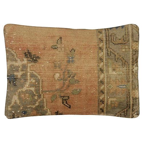 """Oushak Rug Fragment Pillow, 15"""" x 22"""""""