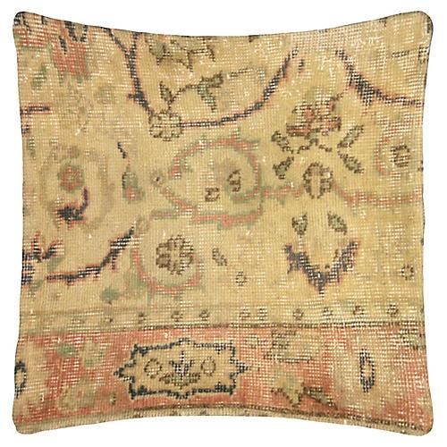 """Oushak Rug Fragment Pillow, 19"""" x 19"""""""