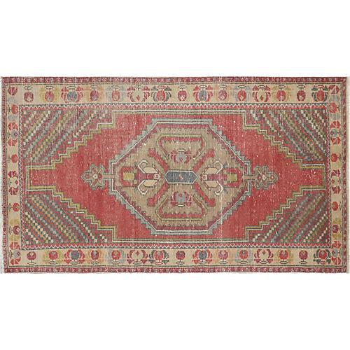 "1960s Turkish Oushak Carpet, 3'7"" x 6'4"""