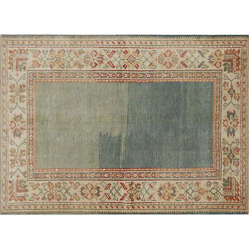 "1960s Turkish Oushak Carpet, 4'2"" x 5'8"""