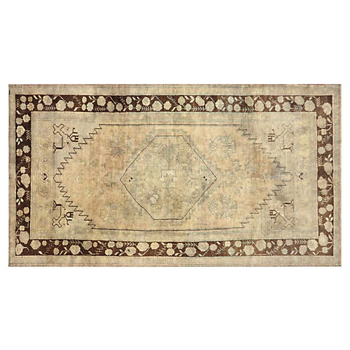 "1960s Turkish Oushak Carpet, 4'7"" x 8'2"""