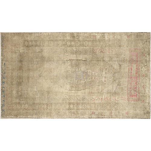 "1960s Turkish Oushak Carpet, 4'3"" x 7'3"""