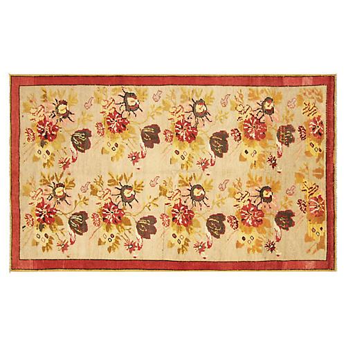 "1960s Turkish Oushak Carpet, 4'5"" x 7'5"""