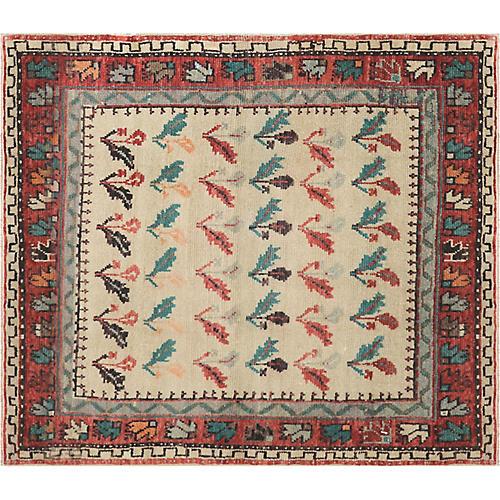"1960s Turkish Oushak Carpet, 4'6"" x 5'3"""