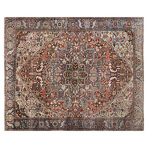 "1920s Persian Heriz Carpet, 8'9"" x 11'"