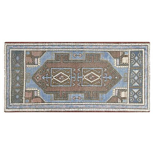 1960s Turkish Oushak Rug, 2' x 4'