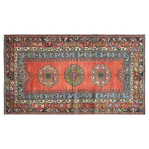 """1960s Turkish Oushak Rug, 4' x 6'10"""""""