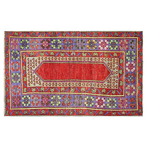 """1960s Turkish Oushak Rug, 3' x 4'10"""""""