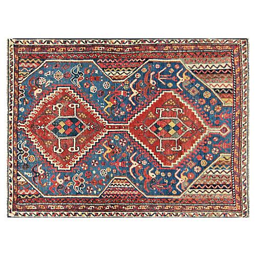 "1950s Persian Shiraz Rug, 3'3"" x 4'8"""