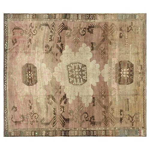"""1930s Oushak Carpet, 9'9"""" x11'5"""""""