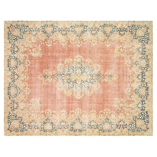"'40s Persian Kerman Carpet, 9'6"" x 12'9"""