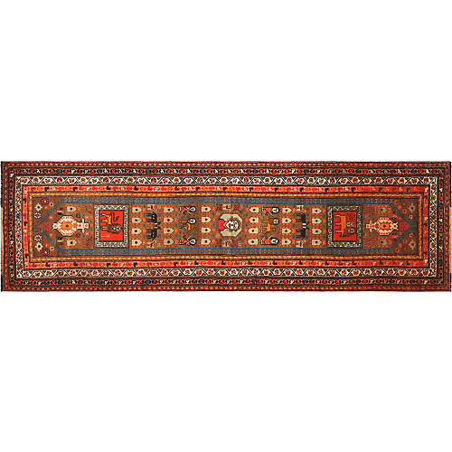 "1960s Turkish Oushak Runner, 3'3"" x11'2"""