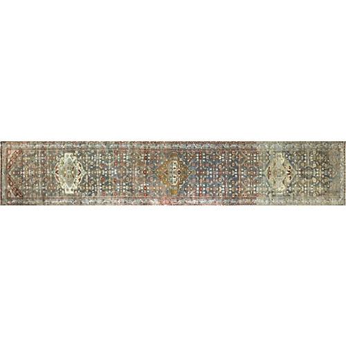 """1930s Persian Malayer Runner, 3'1""""x16'6"""""""