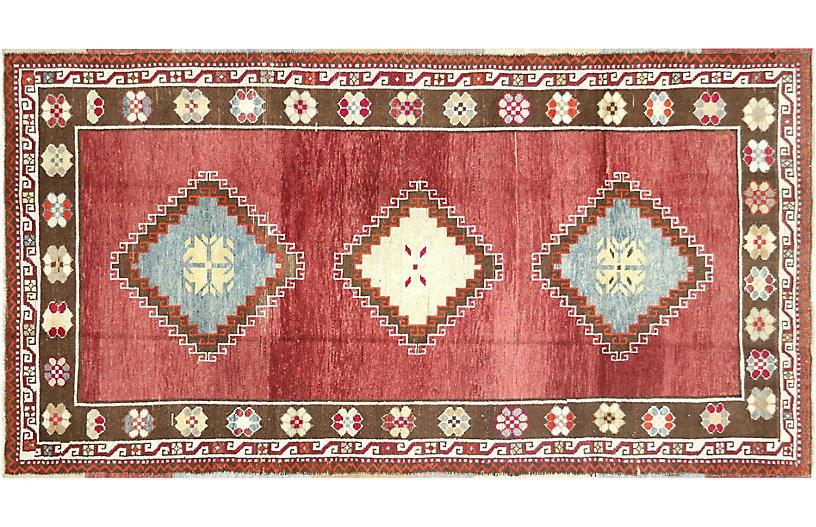 1960s Turkish Oushak Rug, 4'6