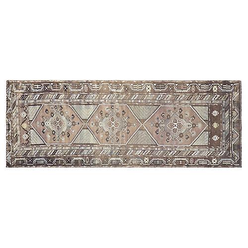 "1960s Turkish Oushak Carpet, 4' x 10'11"""