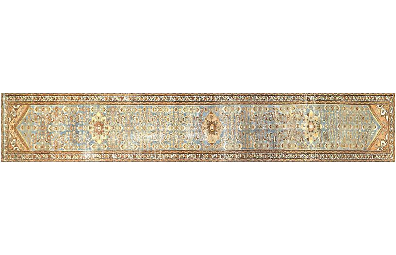 1920s Persian Melayer Runner, 3' x 17'2