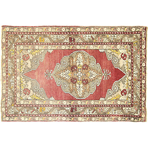 "Turkish Oushak Rug, 5'3"" x 3'6"""
