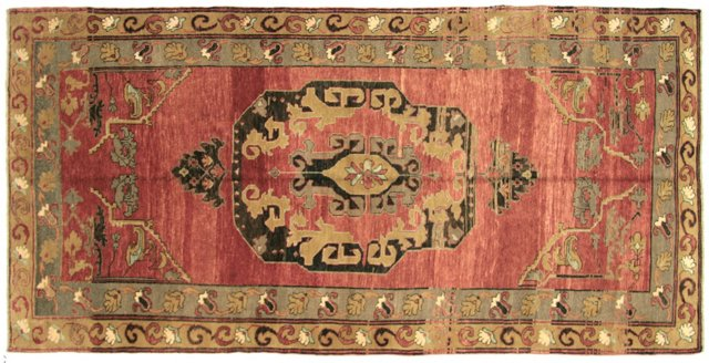 "Turkish Oushak Rug, 5'4"" x 10'11"""