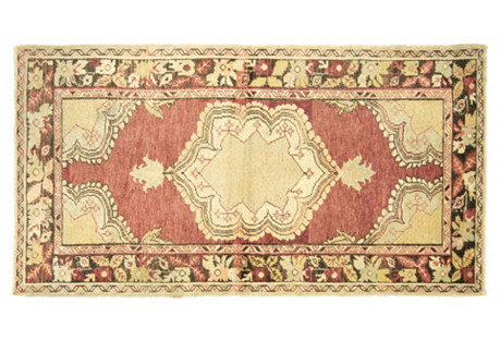 Turkish Oushak Rug, 3'1