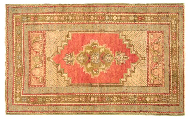 "Turkish Oushak Rug, 3'5"" x 5'6"""