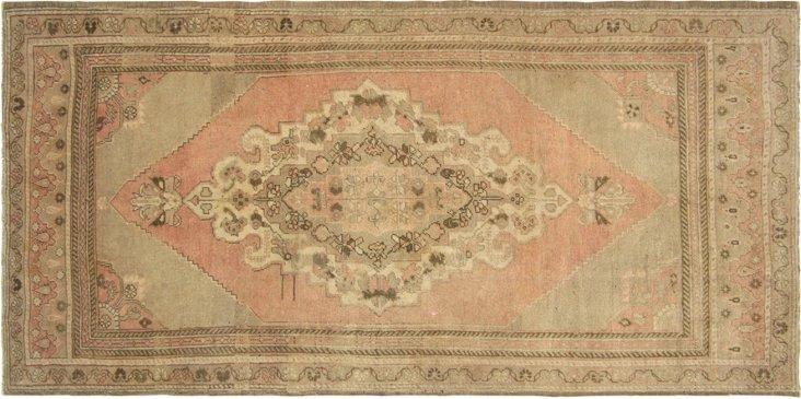 Turkish Oushak, 4' x 8'