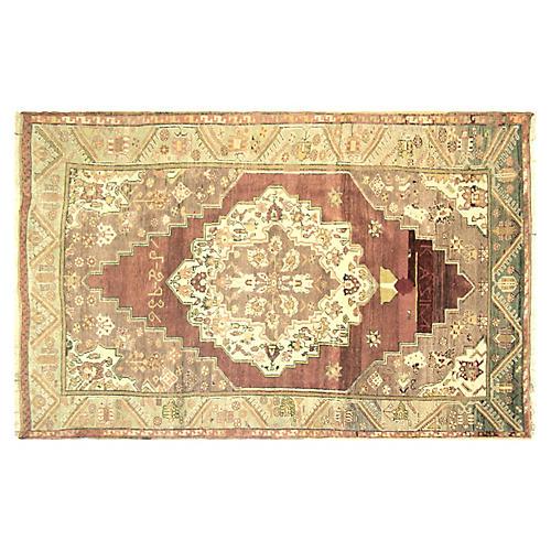 Anatolian Oushak Rug, 4'6 x 7'