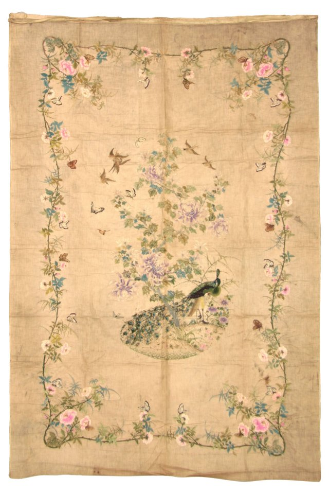 1880s Cantonese Silk Embroidery