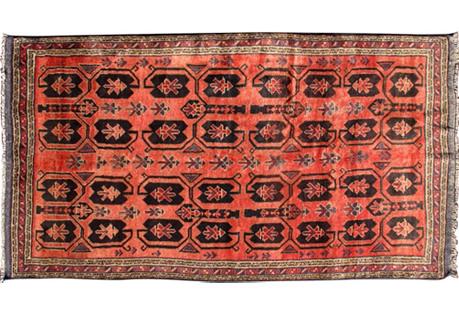 Persian Mehabad Rug, 4'8