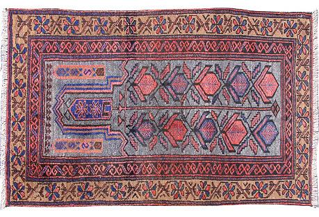 Tribal Blue Baluch, 2'3 x 3'7