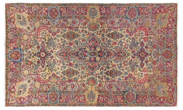 """Antique Persian Kerman, 4' x 6'8"""""""