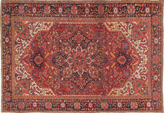 "Antique Persian Heriz, 12'5"" x 9'"